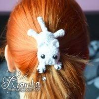 Kitty Cat Hairclip - Free Pattern Friday