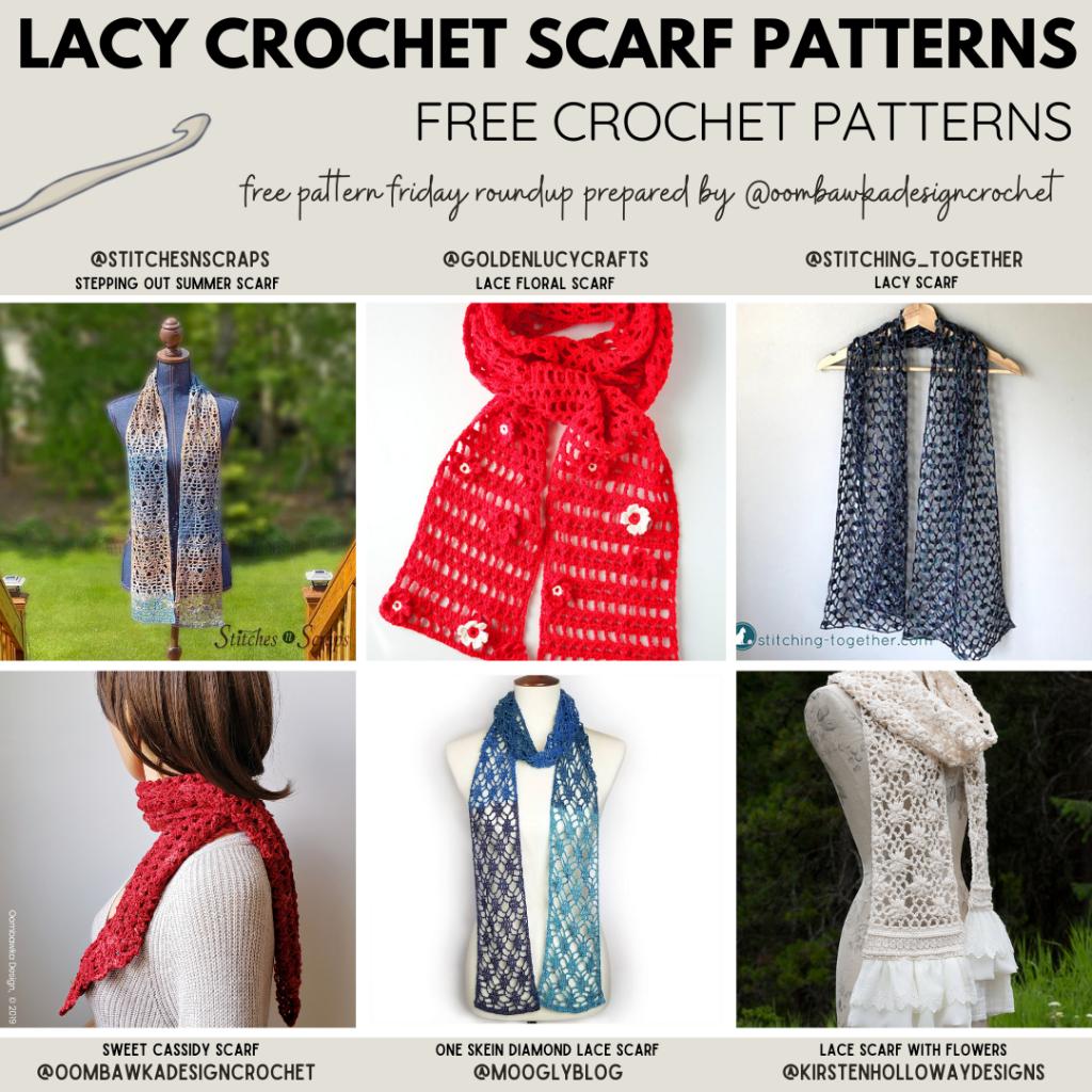 Lacy Crochet Scarf Free Crochet Patterns