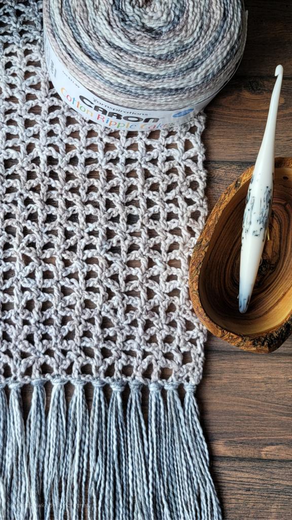 Lacy Crochet Scarf PIN #furlsinf621 #caroncakes