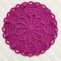 Link Party 401 - Outline Flower Crochet Potholder