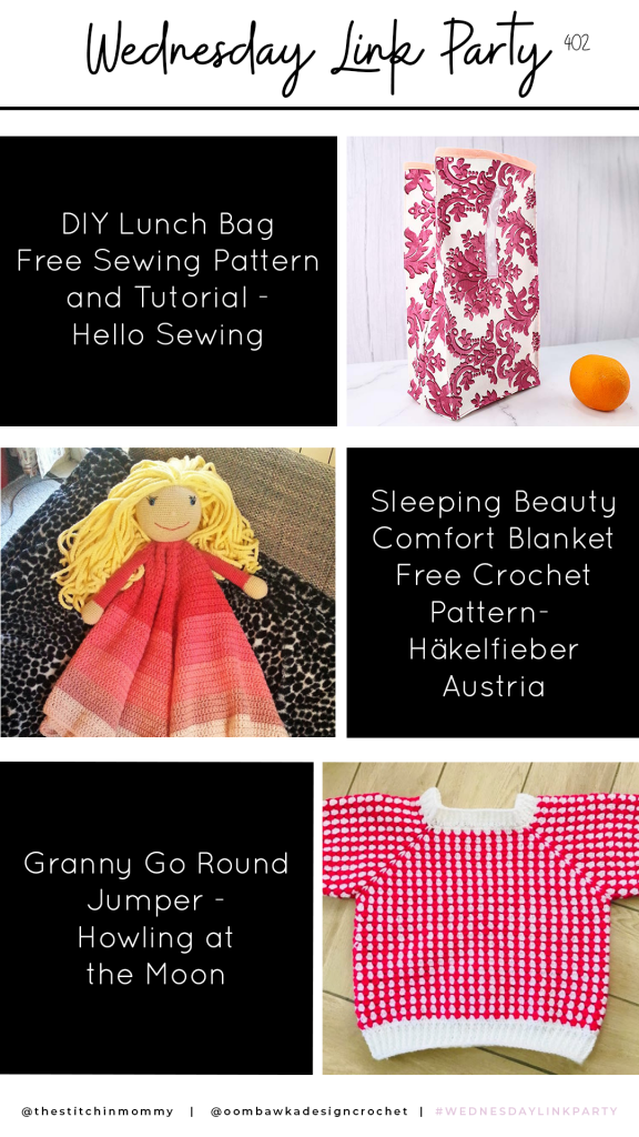 Link Party 402 Features Lunch Bag Comfort Blanket Granny Jumper