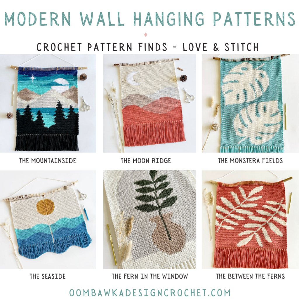 Modern Crochet Wall Hanging Patterns - Crochet Pattern Finds