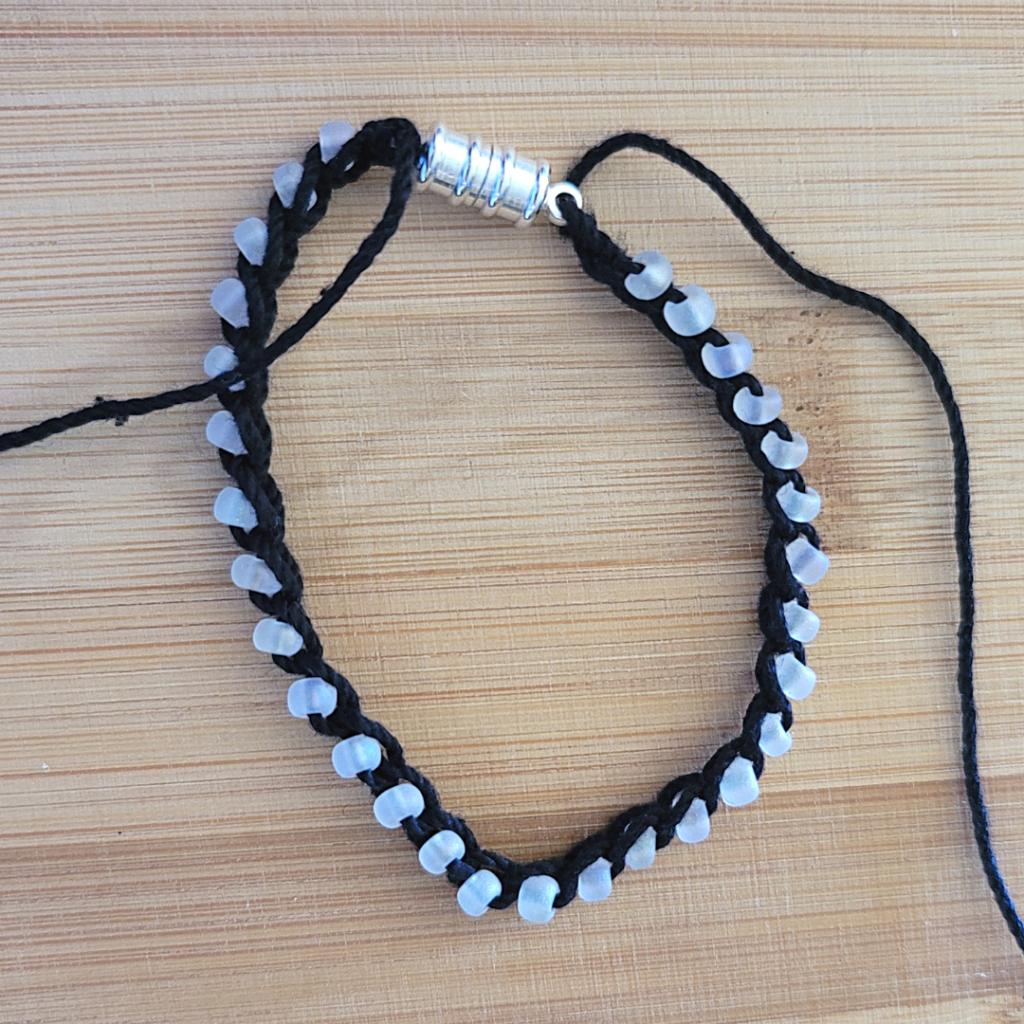 One Row Summer Bracelet Crochet Pattern - Oombawka Design Crochet