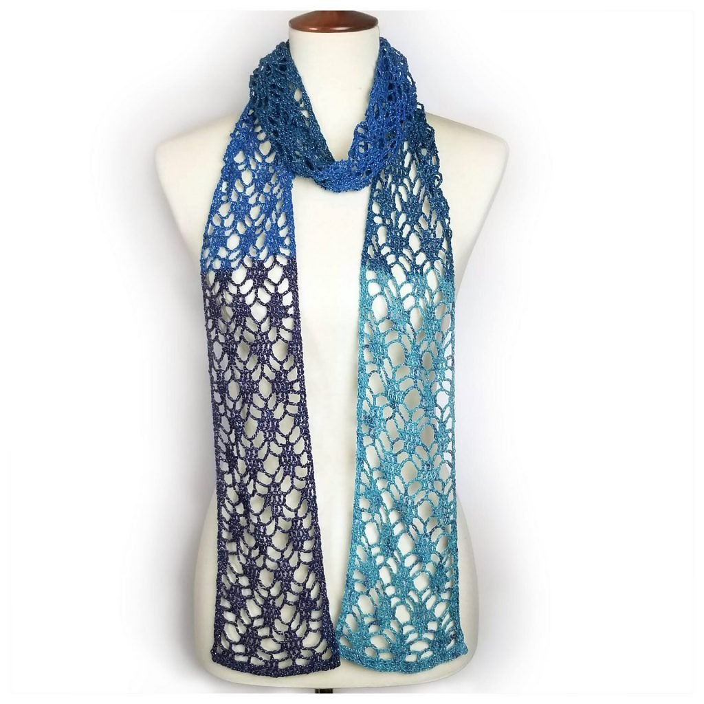 One Skein Diamond Lace Scarf - Free Pattern Friday