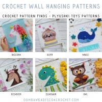 One of a Kind Crochet Wall Hangings - Crochet Pattern Finds