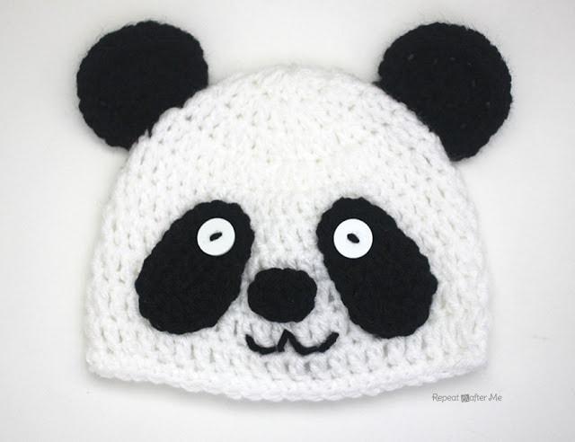 Panda Bear Hat - Free Pattern Friday
