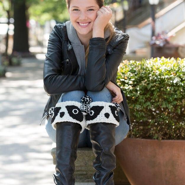 Panda Boot Cuffs - Free Pattern Friday
