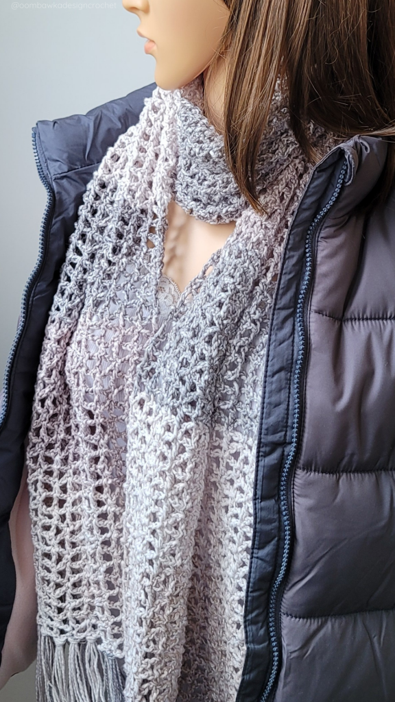 Ready or Not Scarf Pattern - Lacy Crochet Scarf PIN