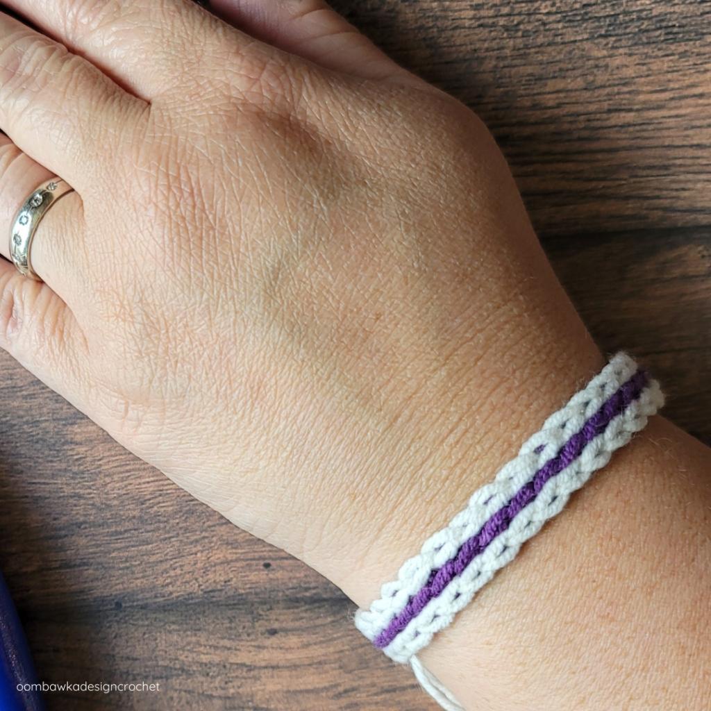 Scrap Yarn Summer Bracelet