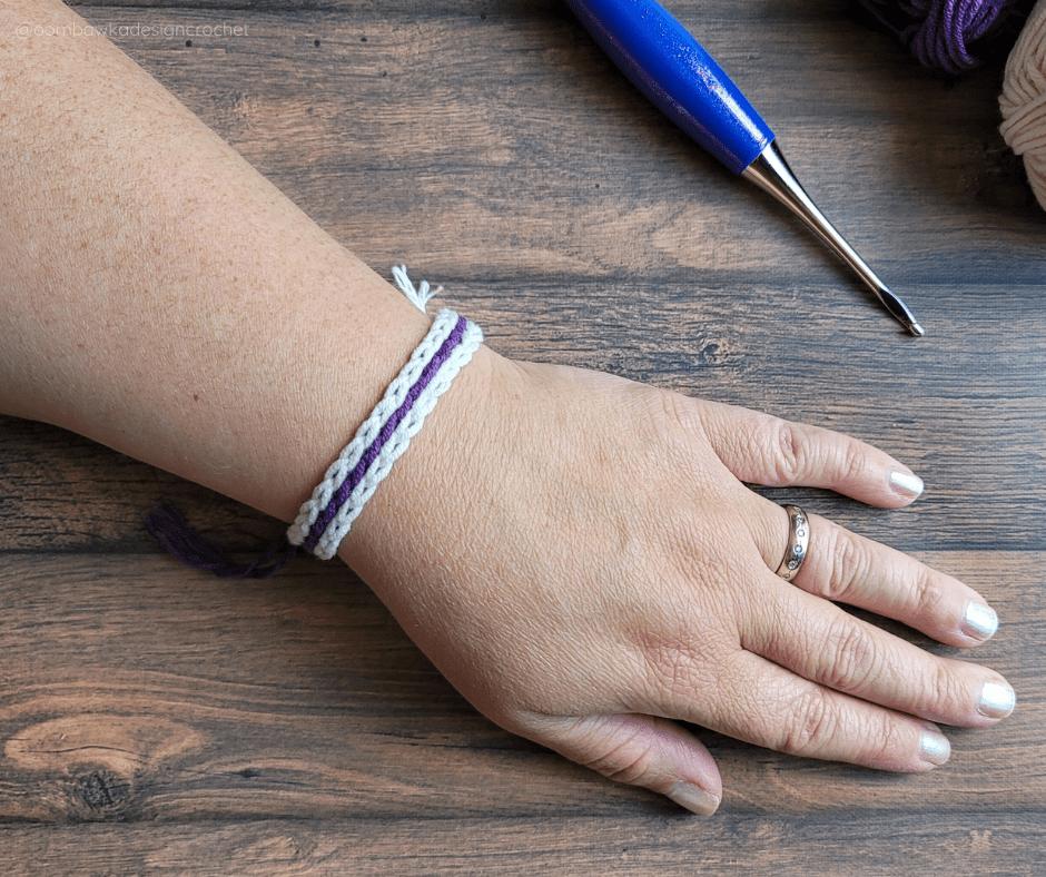 Scrap Yarn Summer Bracelet Pattern ODC