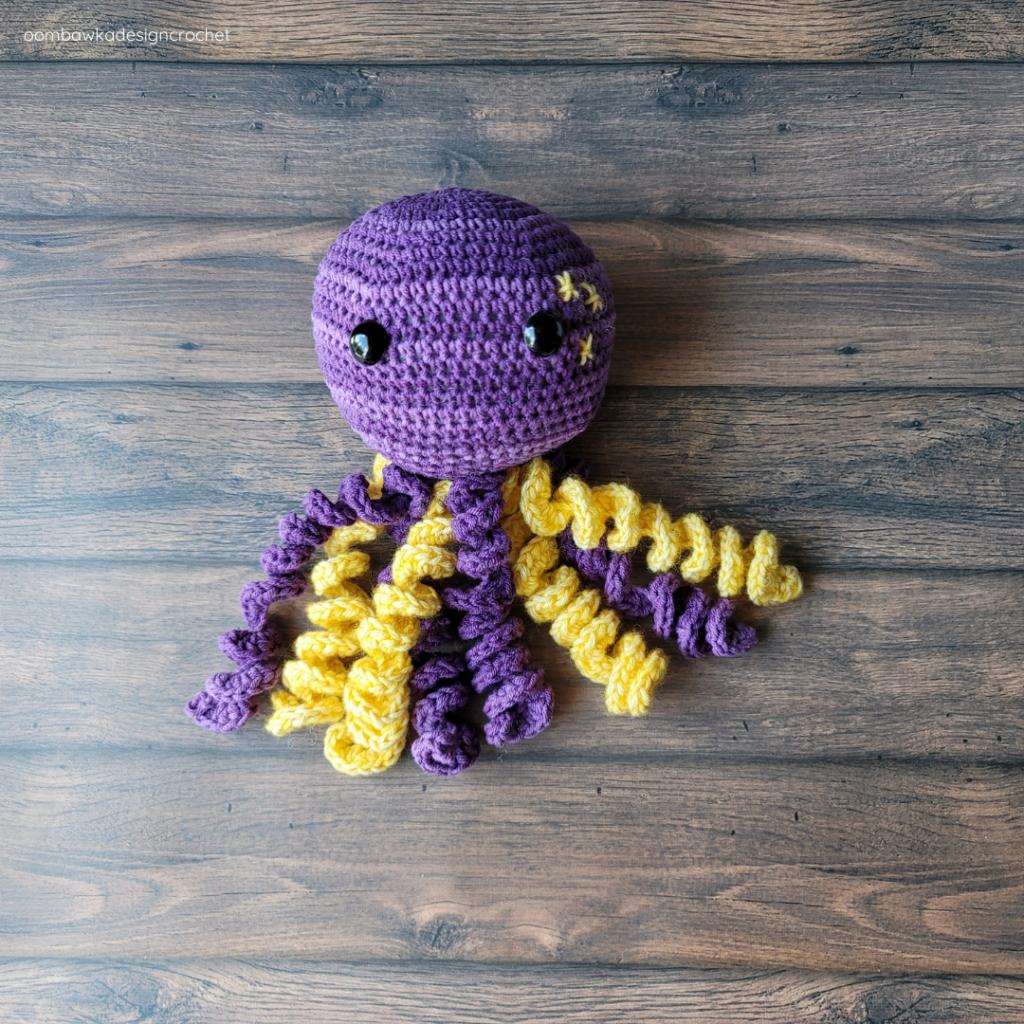 Sir Tentacles the Crochet Octopus