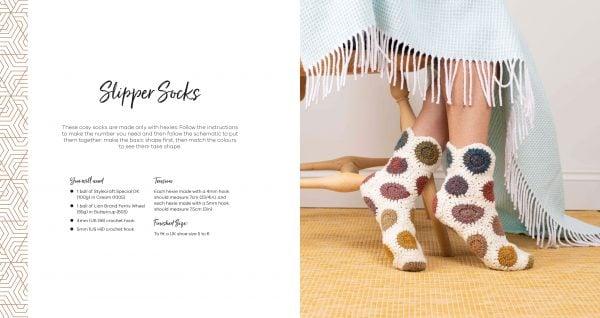 Slipper Socks - Hello Hexie - David&Charles