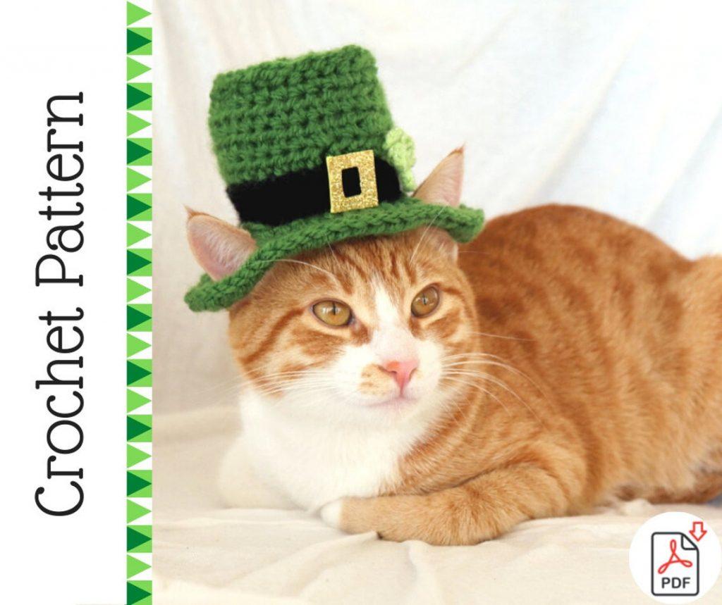 Leprechaun Cat Hat Crochet Pattern