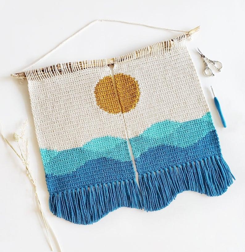 The Seaside Wall Hanging Crochet Pattern
