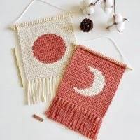 The Sun and Moon Mini Wall Hanging Pattern