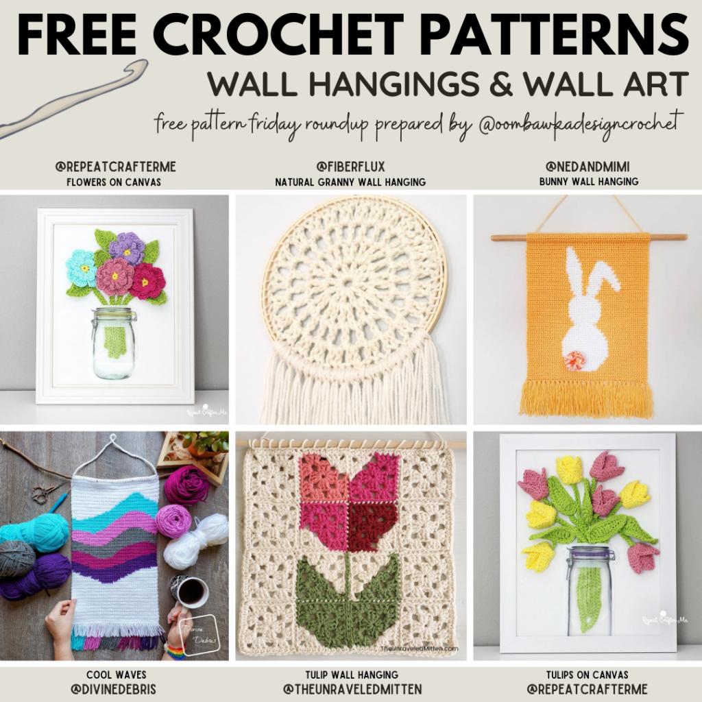 Wall Hangings and Wall Art Free Crochet Patterns