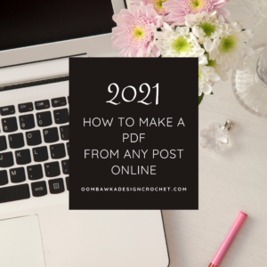 How to Make A PDF from Any Post Online - OombawkaDesign