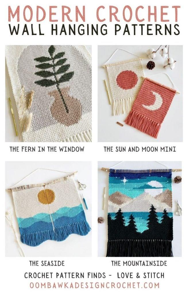 2021 Modern Crochet Wall Hanging Patterns