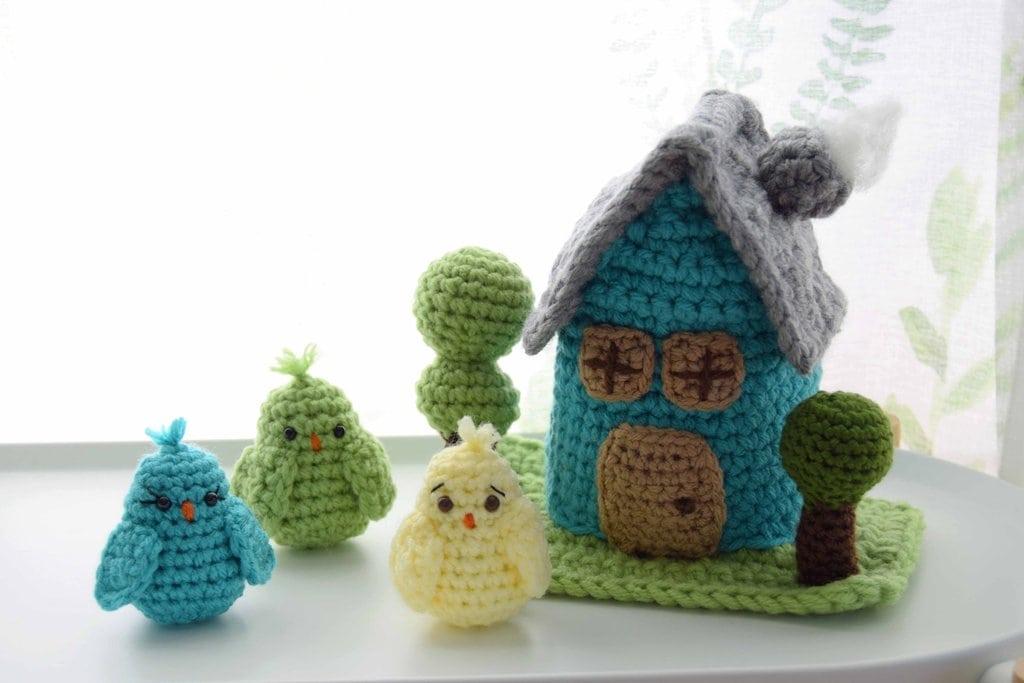 Amigurumi Birds and Birdhouse Pattern - Free Pattern Friday