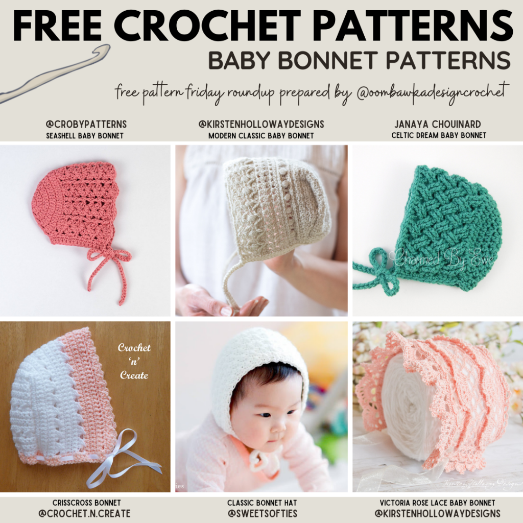 Baby Bonnet Crochet Patterns - Free Pattern Friday