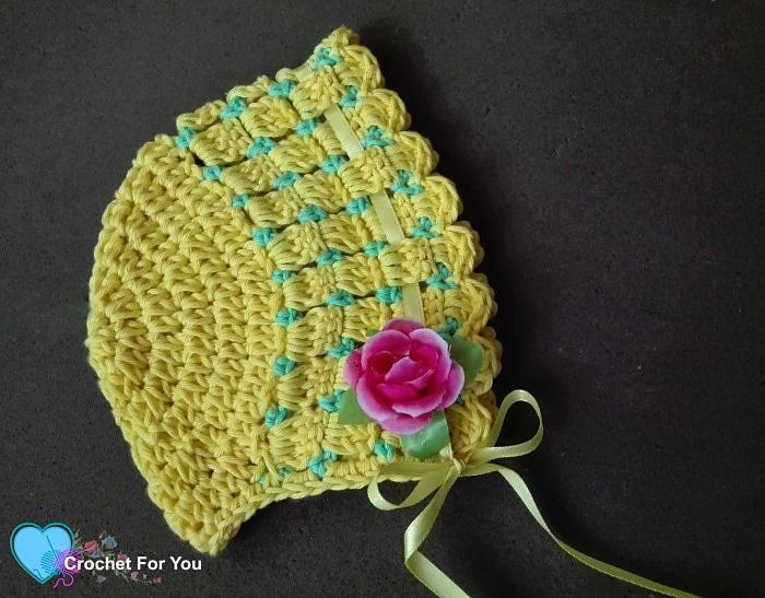 Citrus Cotton Baby Bonnet - Free Pattern Friday