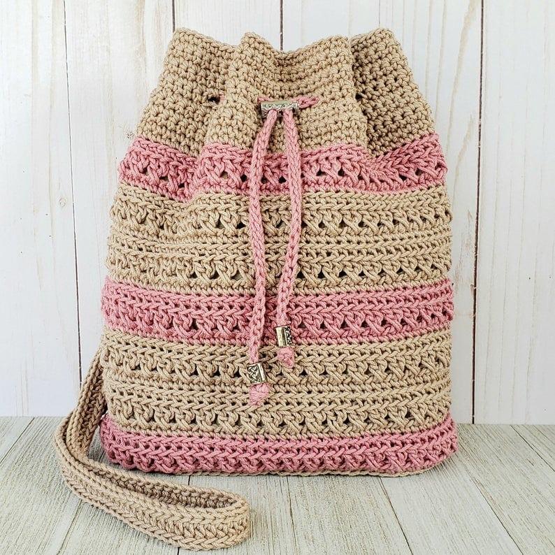 Crisscross Drawstring Bag Pattern