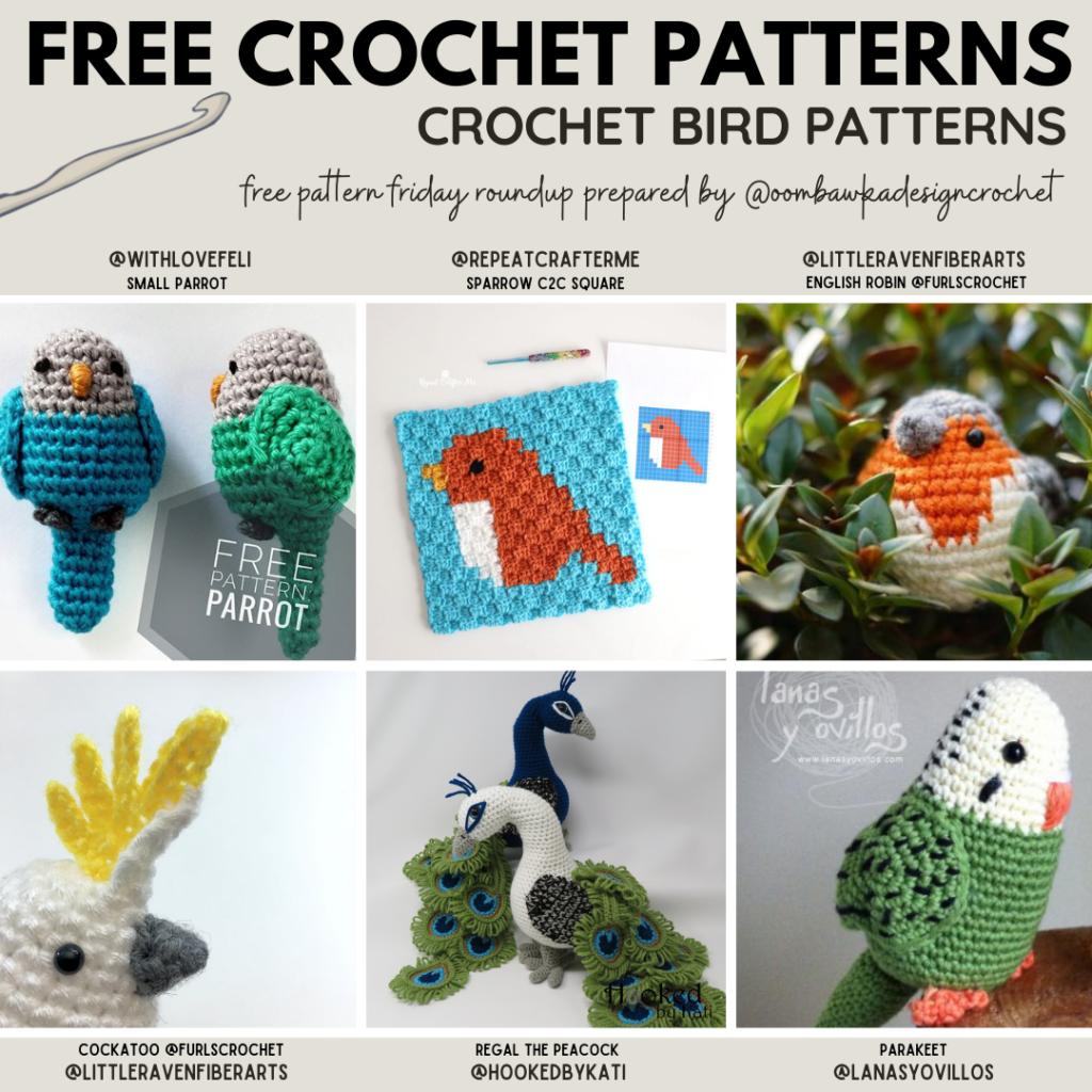 Crochet Bird Patterns - Free Pattern Friday Instagram