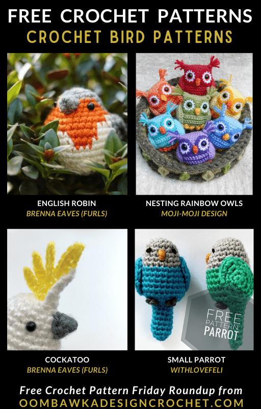 Crochet Bird Patterns - Free Pattern Friday