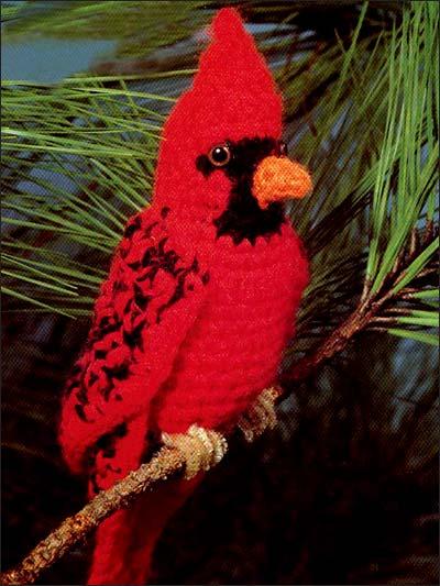 Crochet Cardinal Pattern - Free Pattern Friday
