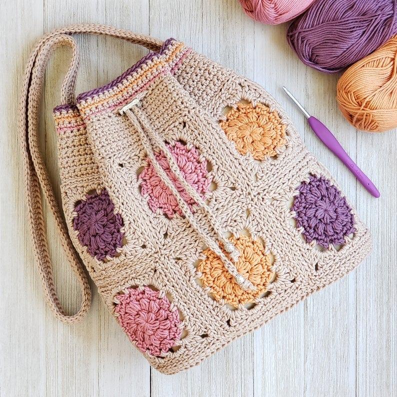 Dahlia Drawstring Bag Pattern