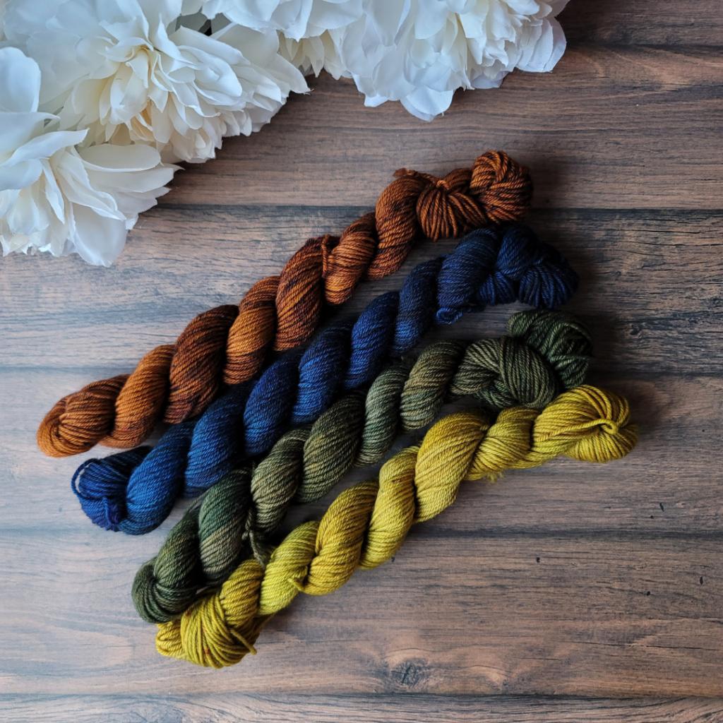 DirtyRainbowSockSet 4 Colors - Oombawka Design Crochet