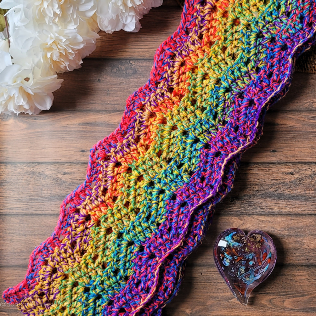 Free Pattern Roll With It Scarf