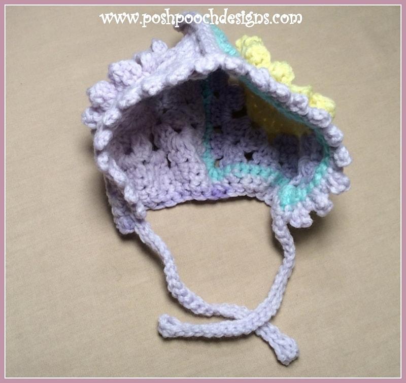 Granny Flower Baby Bonnet - Free Pattern Friday