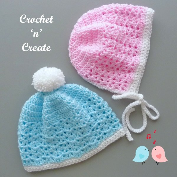 His and Hers Baby Hats - Free Pattern Friday