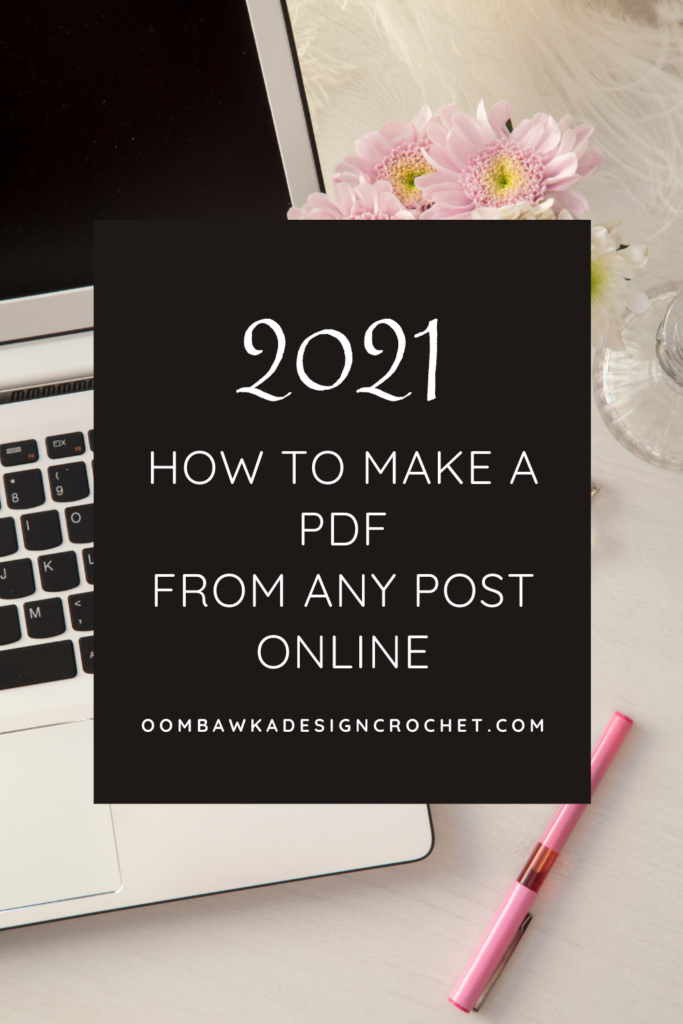 How to Make A PDF from Any Post Online 2021