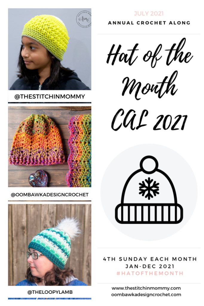 July 2021 Hat of the Month CAL patterns