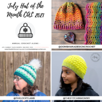 July 2021 Hat of the Month Crochet Along