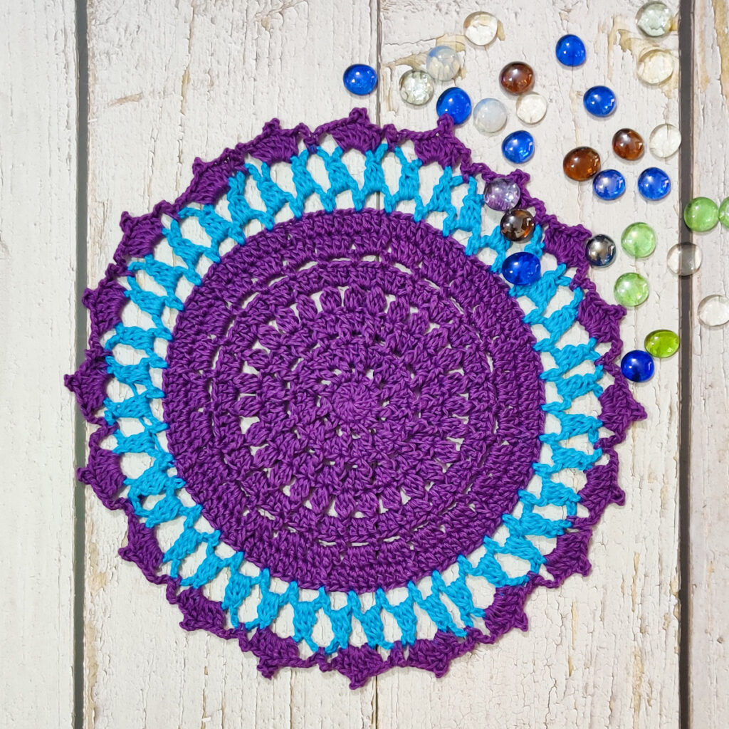 Lilac Coral Doily - Link Party 407