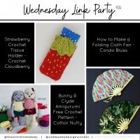 Link Party 406 - Strawberry Tissue Holder - Amigurumi Bunny - Folding Cloth Fan FB