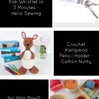 Link Party 408 Key Fob Wristlet, Crochet Kangaroo Pencil Holder and Yarn Bowl Hacks