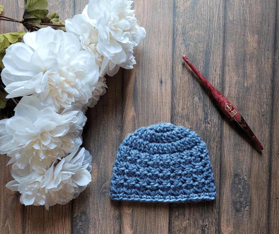 Mabel Crochet Baby Hat Pattern - Rhondda Mol