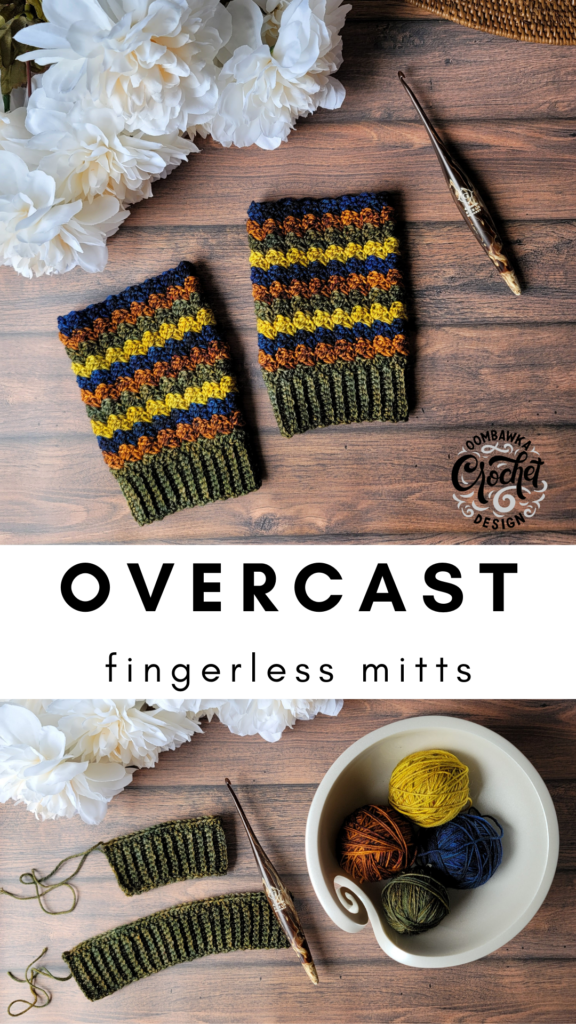 Overcast Fingerless Mittens Oombawka Design Crochet