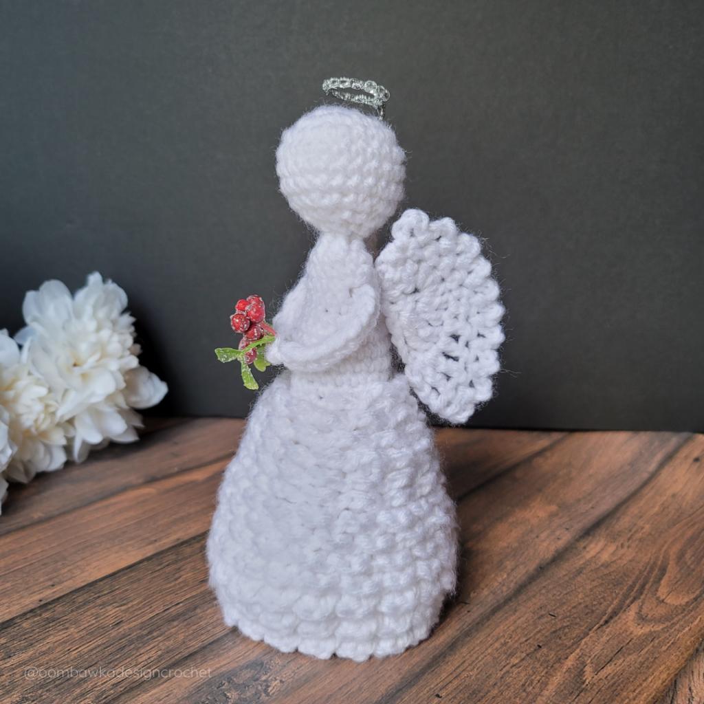 Side View 2021 Crochet Angel Pattern - Oombawka Crochet