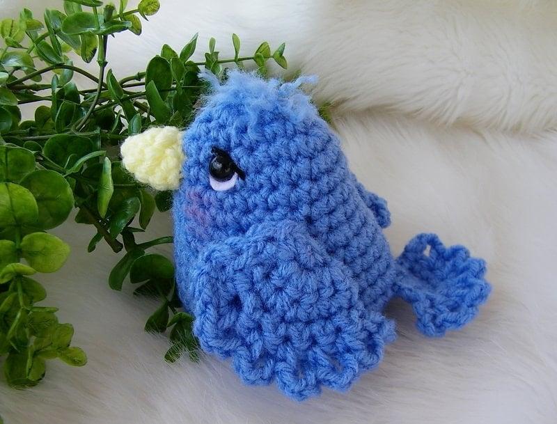 Simply Cute Blue Bird - Free Pattern Friday
