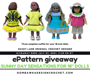 Sunny Day Sensations for 18-Inch Dolls ePattern - Shady Lane Pattern - Review and Giveaway