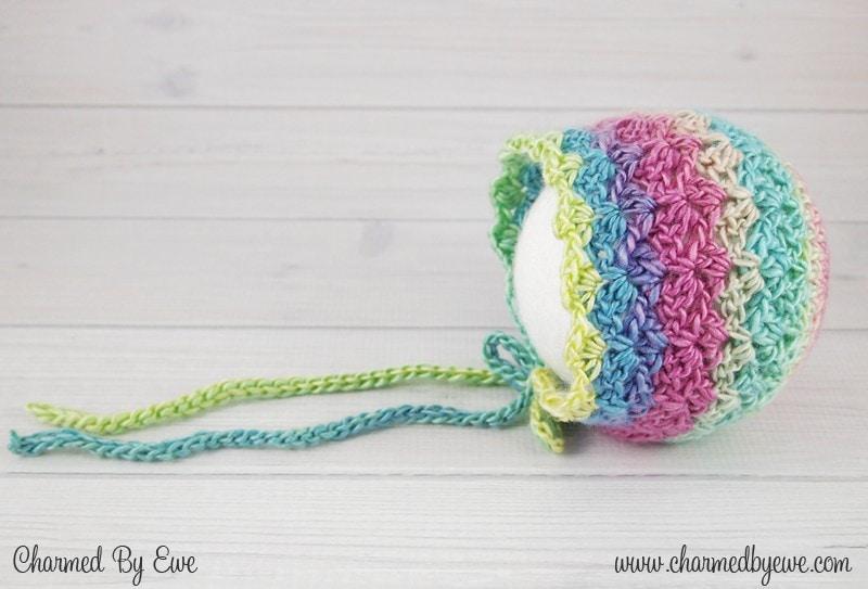 Sweet Like Candy Bonnet - Free Pattern Friday