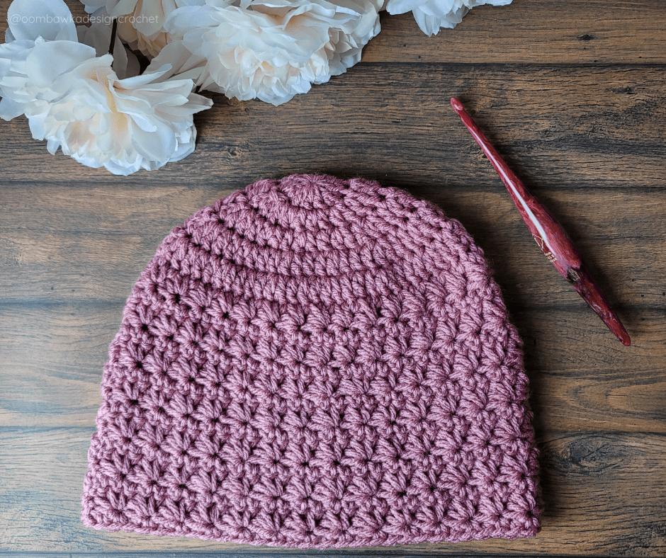 Taylor Star Stitch Hat - Oombawka Crochet