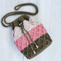 Trellis Drawstring Bag Pattern
