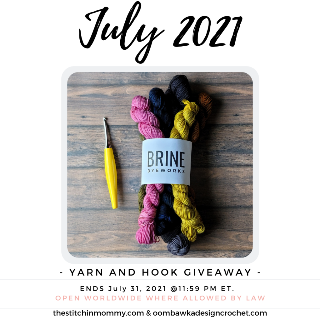 July 2021 Yarn and Hook Giveaway