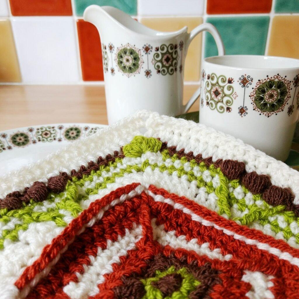 70s Retro Square Crochet Pattern